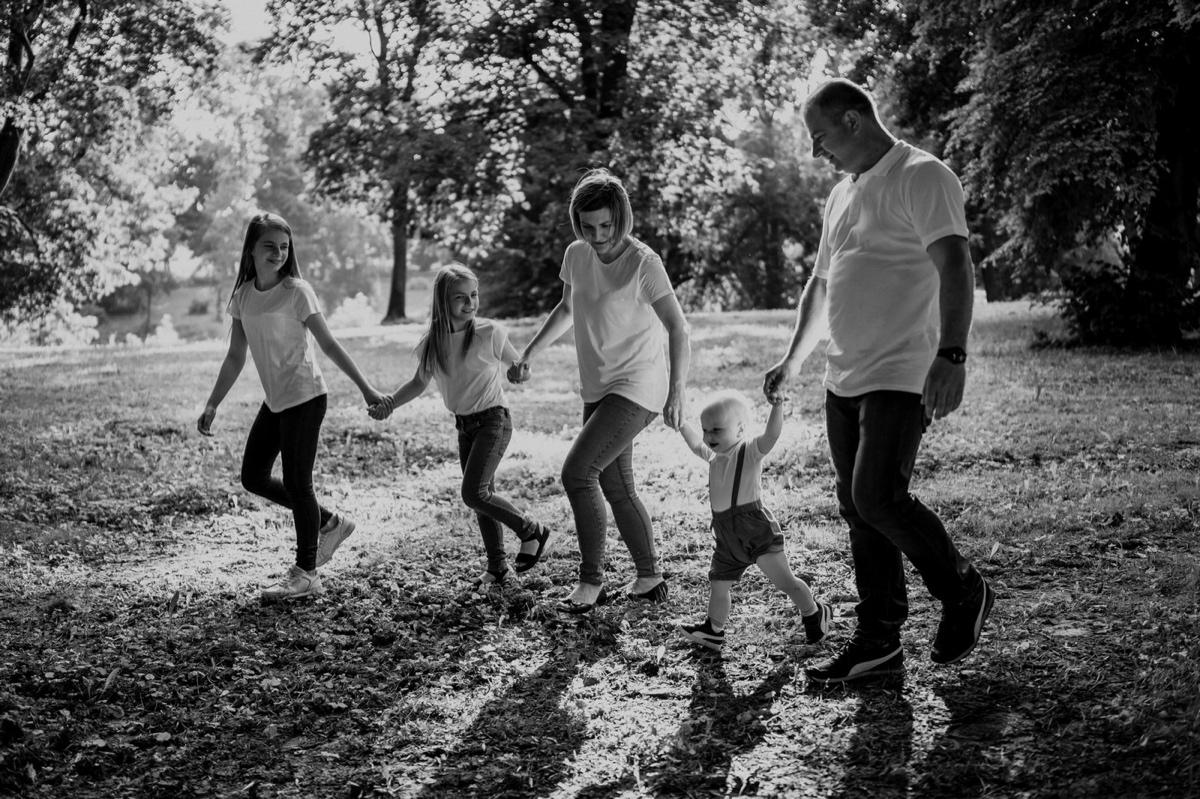 Rodzinna sesja w parku